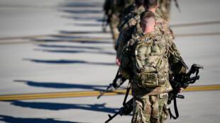 مظليون في الجيش الأمريكي، 5 يناير/كانون الثاني 2020.