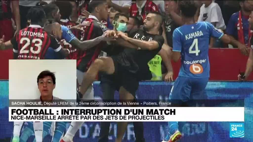 2021-08-23 13:41 Football : Nice-Marseille, une enquête ouverte après les incidents