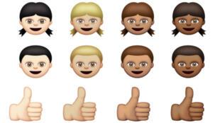 Certains des nouveaux émoticônes d'Apple