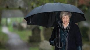 Theresa May à Londres, le 9 décembre 2018.