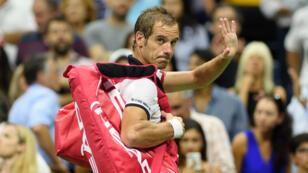 Richard Gasquet après sa défaite contre Roger Federer, le 9 septembre, à l'US Open.