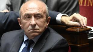 Le ministre de l'Intérieur, Gérard Collomb, à l'Assemblée lors d'une session de questions au gouvernement, le 10 avril.