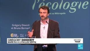 2020-06-28 23:04 Municipales 2020 : Grégory Doucet (EELV) élu maire de Lyon
