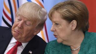 Donald Trump s'en est violemment pris à la politique migratoire d'Angela Merkel ces deux derniers jours.