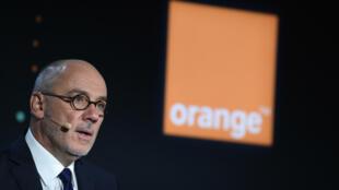Stéphane Richard, PDG d'Orange, le 13 février 2020 à Paris
