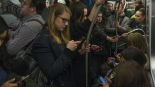 Un métro bondé, à New York, le 5 mai dernier.