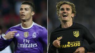Cristiano Ronaldo et Antoine Grizmann, clés offensives de ce derby madrilène.