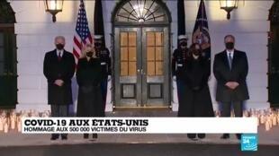 2021-02-23 10:01 Covid-19 aux États-Unis : hommage aux 500 000 victimes du virus