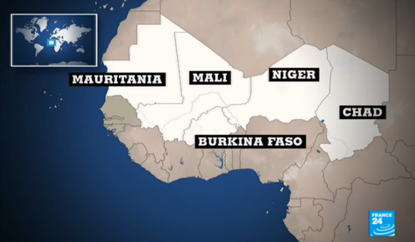 Map: the five members of the G5 Sahel regional force
