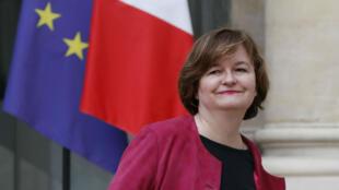 Nathalie Loiseau, quittant l'Élysée, le 9 janvier 2019.