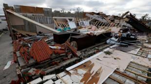 Los edificios dañados por el huracán Michael se ven en Panama City, Florida, EE. UU., 11 de octubre de 2018.