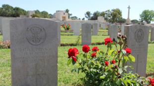 L'une des 2 500 tombes du cimetière britannique de Jérusalem.