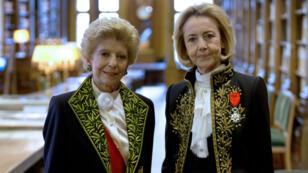 Les Académiciennes Dominique Bona et Helene Carrère-d'Encausse, le 23 octobre 2014.