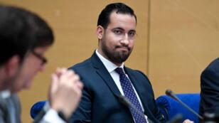 Alexandre Benalla lors d'une audition devant la comission sénatoriale, à Paris le 19 septembre 2018.