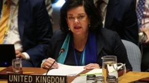 L'ambassadrice britannique aux Nations unies, Karen Pierce, expose devant le Conseil de sécurité les conclusions de Downing Street sur l'affaire Skripal, jeudi 6 septembre.
