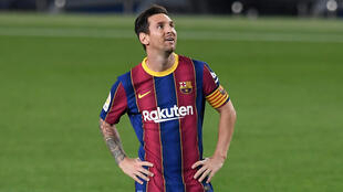 Lionel Messi scored a penalty as Barcelona beat Villarreal 4-0 in their first competitive game under new coach Ronald Koeman
