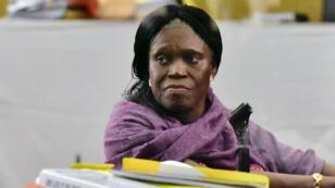 Simone Gbagbo lors de son procès, le 1er juin, devant la cour d'Abidjan.