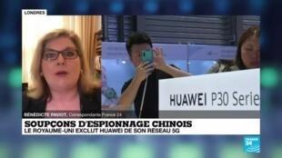 2020-07-14 18:01 Soupçons d'espionnage chinois : le Royaume-Uni exclut Huawei de son réseau 5G