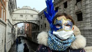 coronavirus-venise-masque