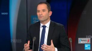 Benoît Hamon, le 29 janvier 2019, sur le plateau de France 24.