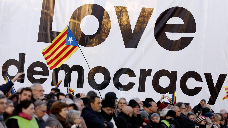 Des manifestants, en février dernier, lors d'une journée de mobilisation pour l'indépendance de la Catalogne.