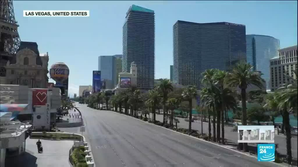 2020-03-23 12:09 Coronavirus turns Las Vegas into ghost town