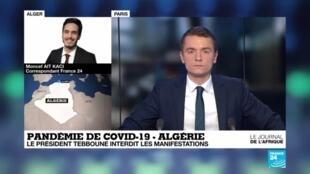 2020-03-17 21:49 Pandémie de COVID-19 : En Algérie, le mouvement Hirak est suspendu
