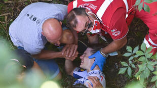 Remco Evenepoel fractured his pelvis at the Tour of Lombardy