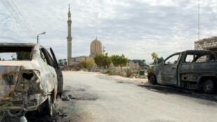 مسجد الروضة الذي تعرض لهجوم متطرفين في شمال سيناء ما أسفر عن مقتل مئات المصلين في 25 تشرين الثاني/نوفمبر 2017