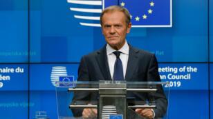 Donald Tusk, le 2 juillet 2019, à Bruxelles.