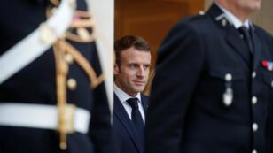 Emmanuel Macron à l'Elysée le 27 novembre 2018.
