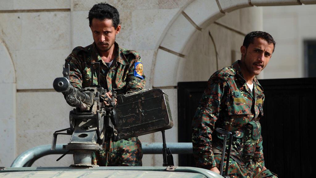 Des soldats yéménites à Sanaa, le 13 janvier 2015.