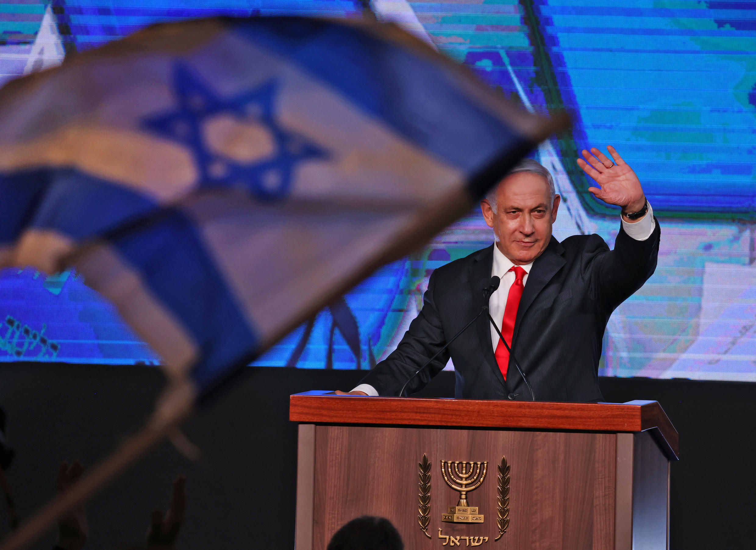 Benjamin Netanyahu is likely to be able to get support from 52 members of parliament -- short of the absolute majority needed of 61