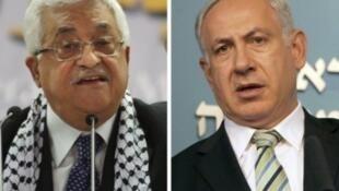 Mahmoud Abbas et Benjmain Netanyahou