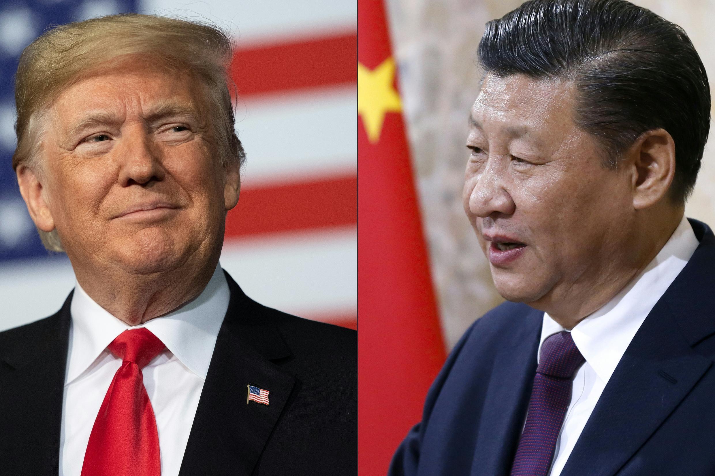 الرئيس الأمريكي دونالد ترامب ونظيره الصيني شي جينبينغ.