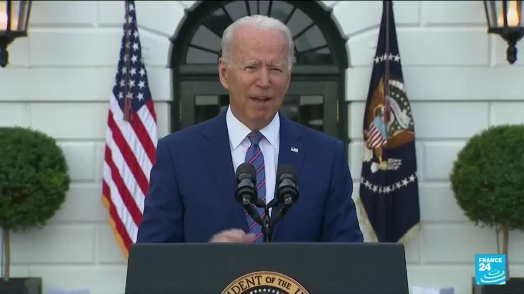 """2021-07-05 14:10 Pour la fête nationale, Joe Biden célèbre le """"retour de l'Amérique"""""""