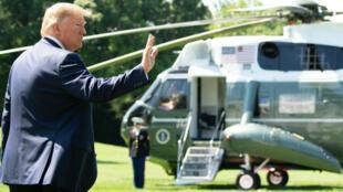 Donald Trump avant son départ de Washington pour Camp David, le 22juin2019.
