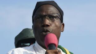 L'opposant Tikpi Atchadam, lors d'un rassemblement à Lomé, le 6 septembre 2017.