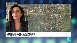 """2019-10-21 22:33 Emmanuelle Barozet:""""There is a big tension in the government"""""""
