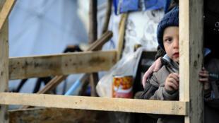 L'enfant d'un réfugié demandeur d'asile, en novembre 2013 à Metz.