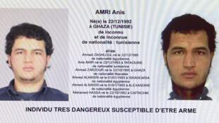 صورة المشتبه به في اعتداء برلين التونسي أنيس العامري