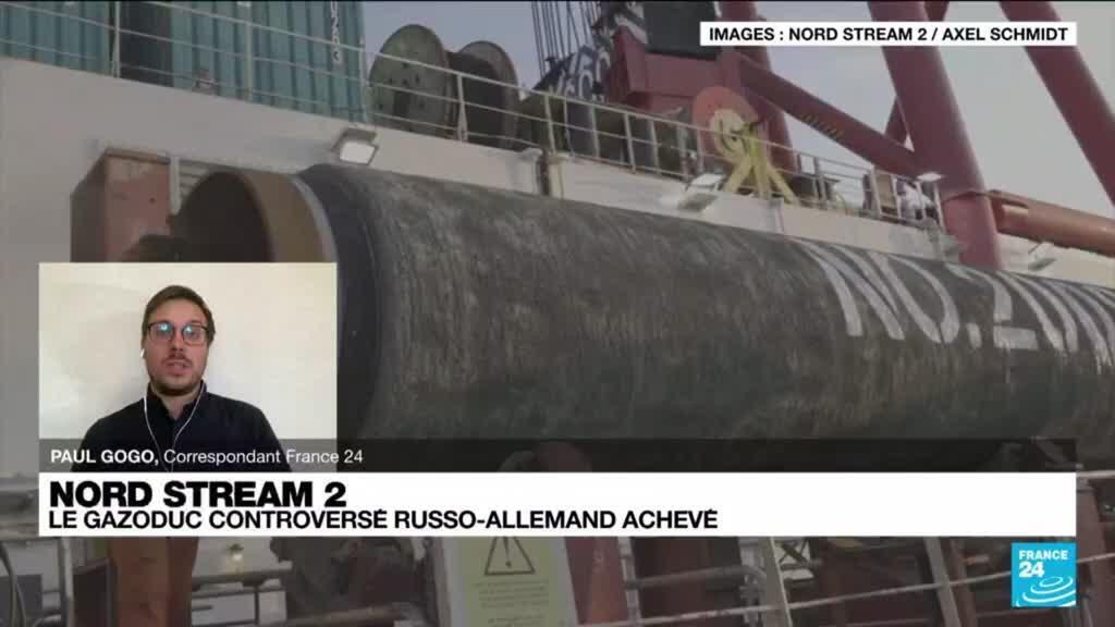2021-09-10 14:37 Nord Stream 2 : le gazoduc controversé russo-allemand achevé