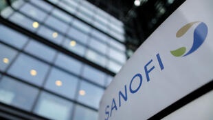 A Sanofi sign outside the French drugmaker's Paris headquarters.