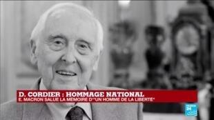 2020-11-26 16:05 Hommage national à Daniel Cordier : une minute de silence suivie de la Marseillaise