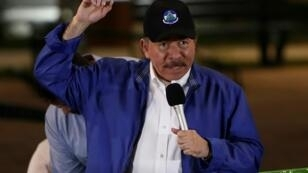 """The leftist government of Nicaraguan President Daniel Ortega, pictured in 2018, said its commitment to working towards """"national understanding"""" was unchanged It said it was not responsible for any """"deadlock or delay"""" in the talks,"""