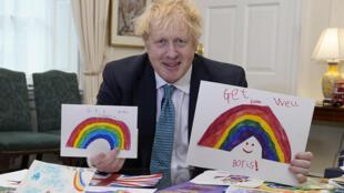 رئيس الحكومة البريطاني بوريس جونسون، لندن، 28 نيسان/ابريل 2020