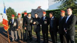 Quelques uns des survivants de l'attentat contre le Drakkar en 1983.