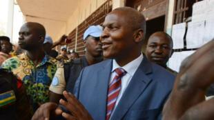 Faustin-Archange Touadéra à la gare de Bangui, le 14 février 2016.