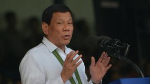 Le président philippin, Rodrigo Duterte, le 5 octobre 2017, lors d'un discours à Manille.