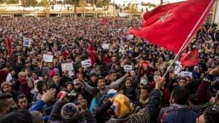 مظاهرة في مدينة جرادة المغربية 26 كانون الأول/ديسمبر 2017
